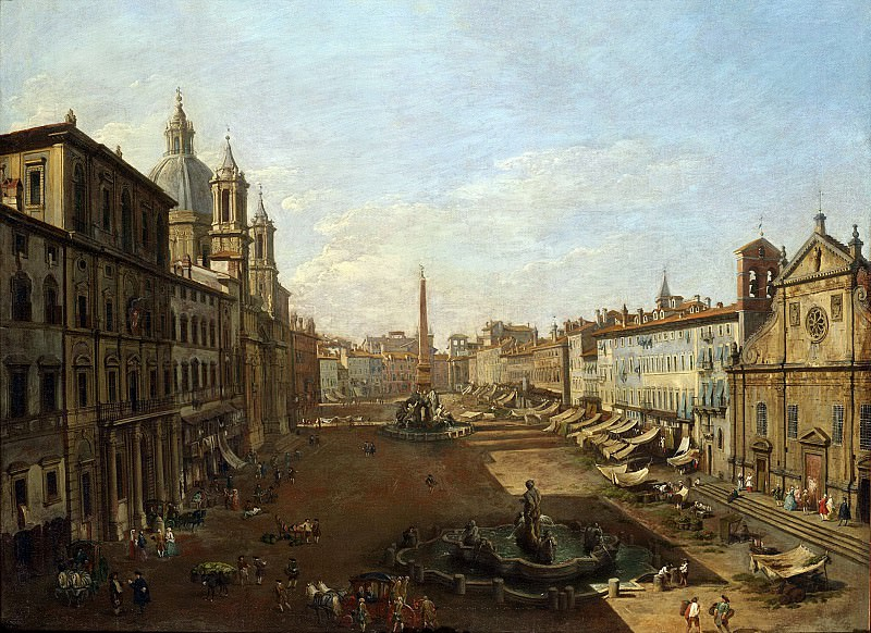 View of Piazza Navona. Giovanni Paolo Panini