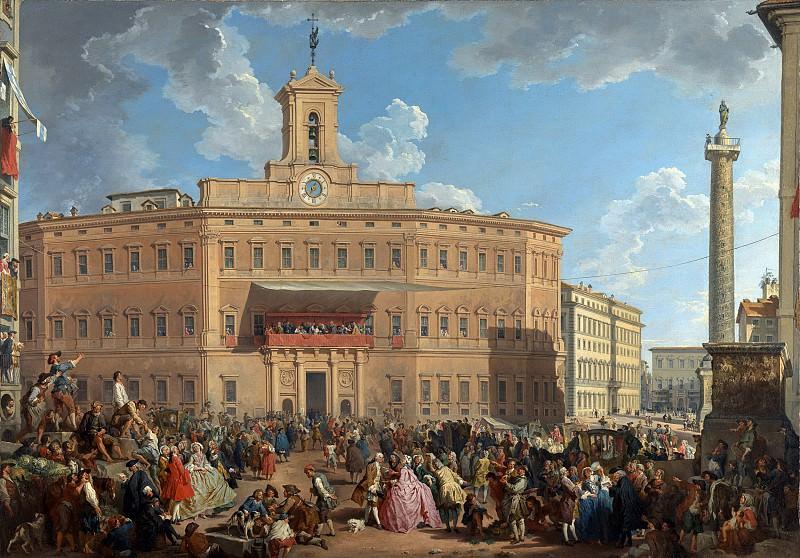 The Lottery in Piazza di Montecitorio, 1743-1744. Giovanni Paolo Panini