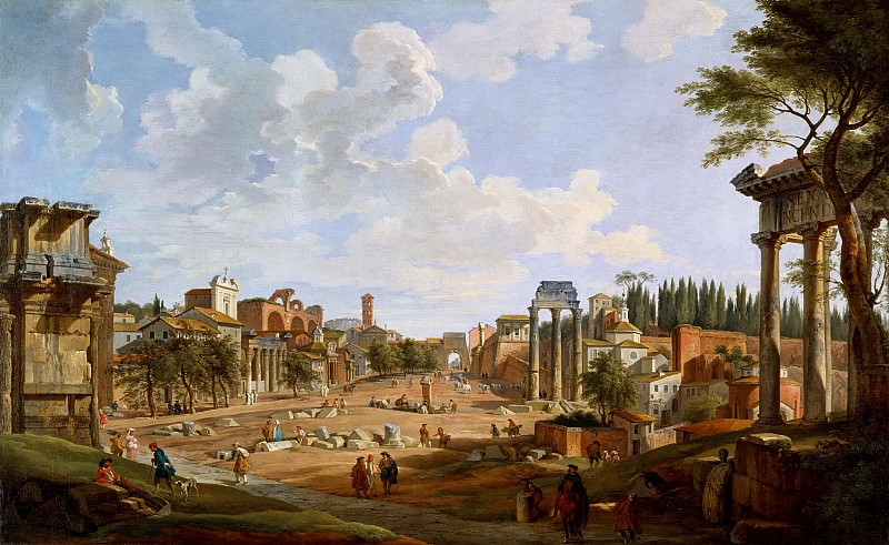 View of the Roman Forum. Giovanni Paolo Panini
