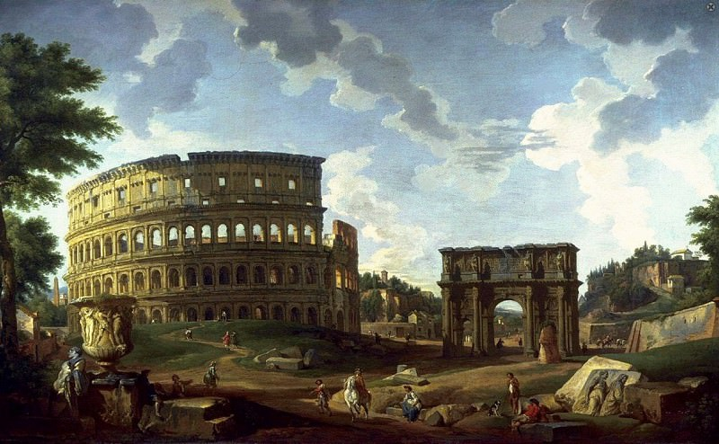 View of the Colosseum. Giovanni Paolo Panini