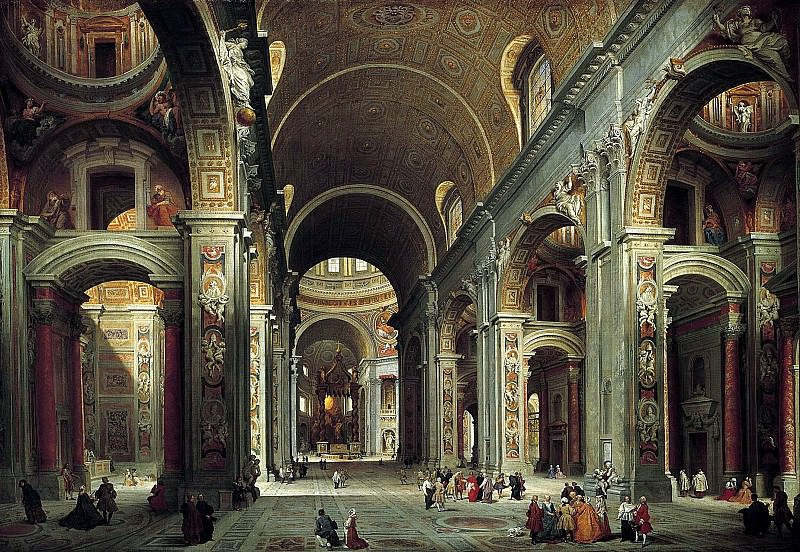 Interior of Saint Peter s, Rome. Giovanni Paolo Panini
