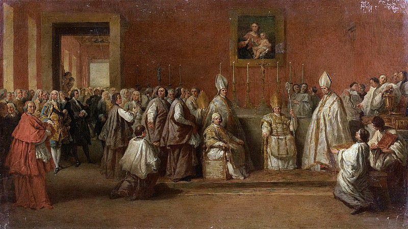 CEREMONY WITH POPE BENEDICT XIV. Giovanni Paolo Panini