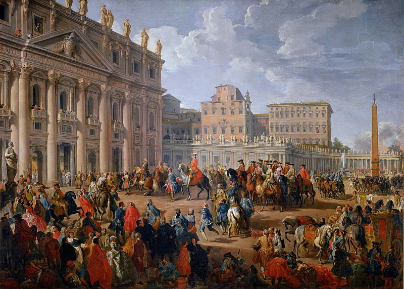 Charles of Bourbon Visiting the Basilica of St. Peter. Giovanni Paolo Panini
