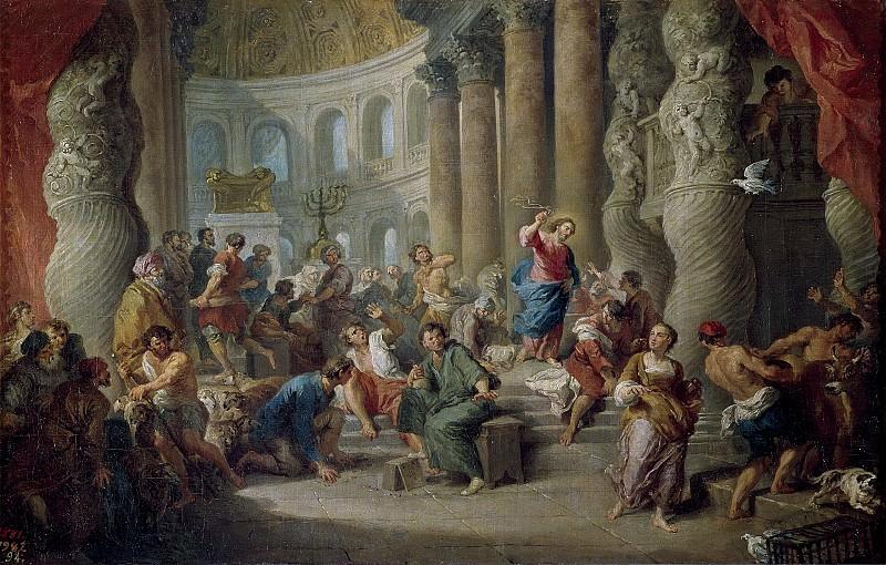 La expulsion de los mercaderes del tempo. Giovanni Paolo Panini