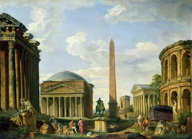 The Pantheon and other Monuments 1735. Giovanni Paolo Panini