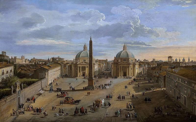 View of Piazza del Popolo, Rome. Giovanni Paolo Panini
