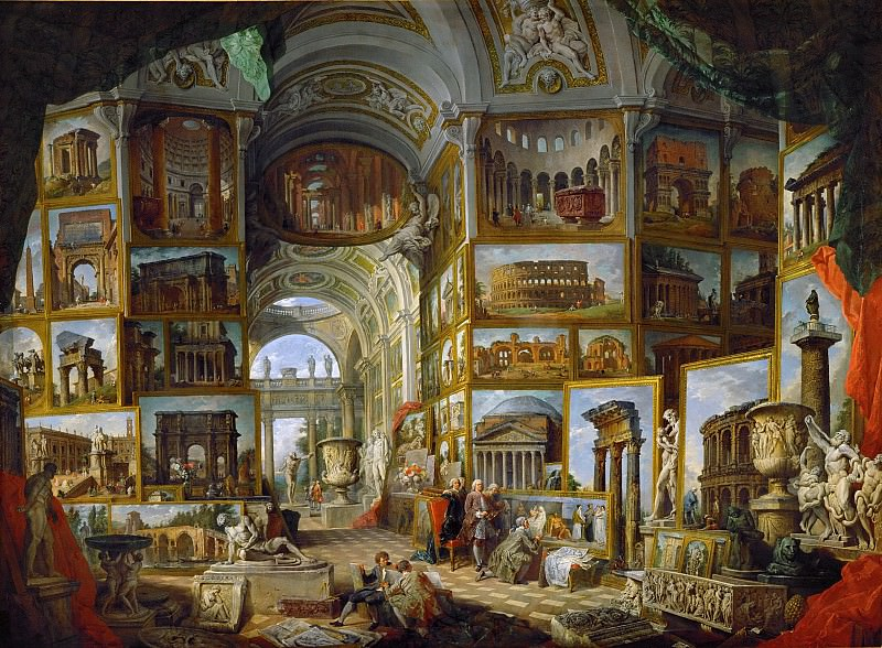 The Gallery of views of ancient Rome. Giovanni Paolo Panini