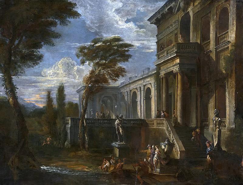 Каприччо с фигурами. Giovanni Paolo Panini
