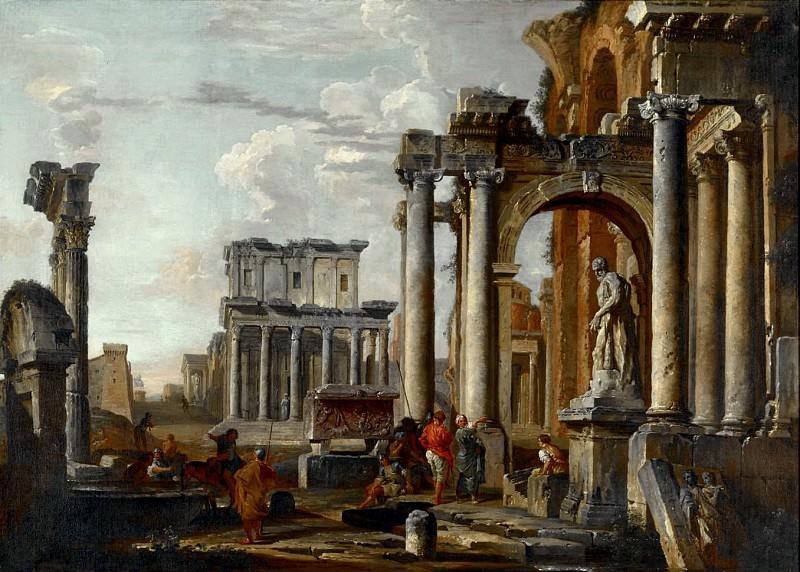Руины с храмом Антонина и Фаустины. Джованни Паоло Панини