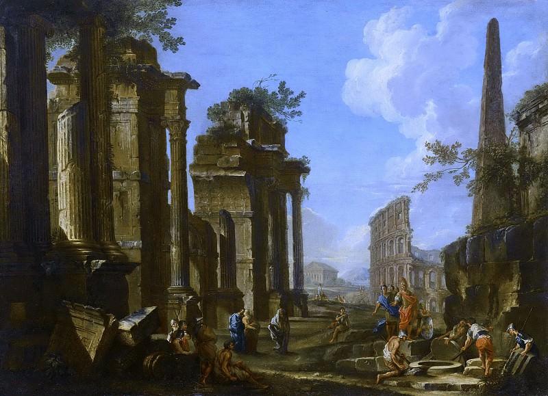Caprice architectural antique. Giovanni Paolo Panini