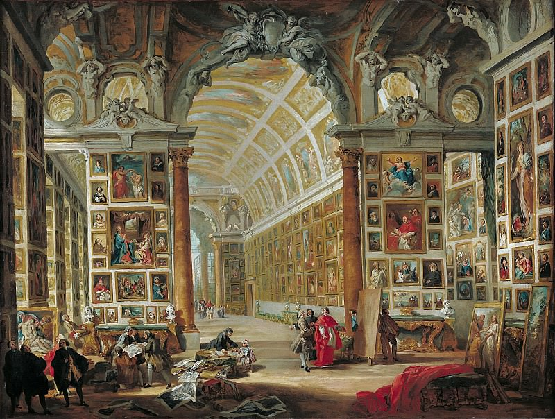 The Gallery of Cardinal Silvio Valenti-Gonzaga in Rome. Giovanni Paolo Panini