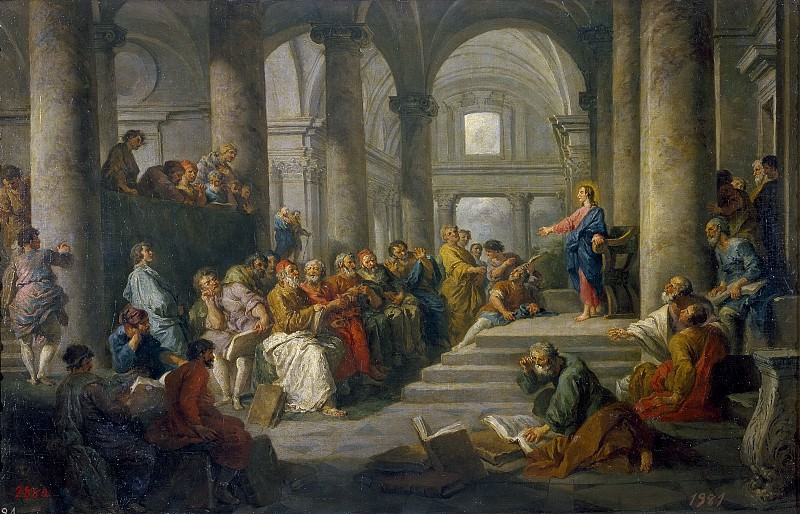 Dispute of Jesus with the doctors. Giovanni Paolo Panini