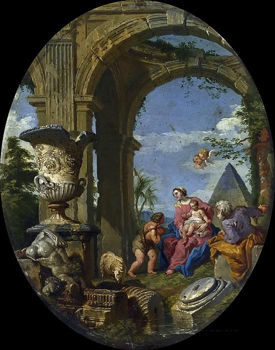 Каприччо со Святым Семейством. Giovanni Paolo Panini