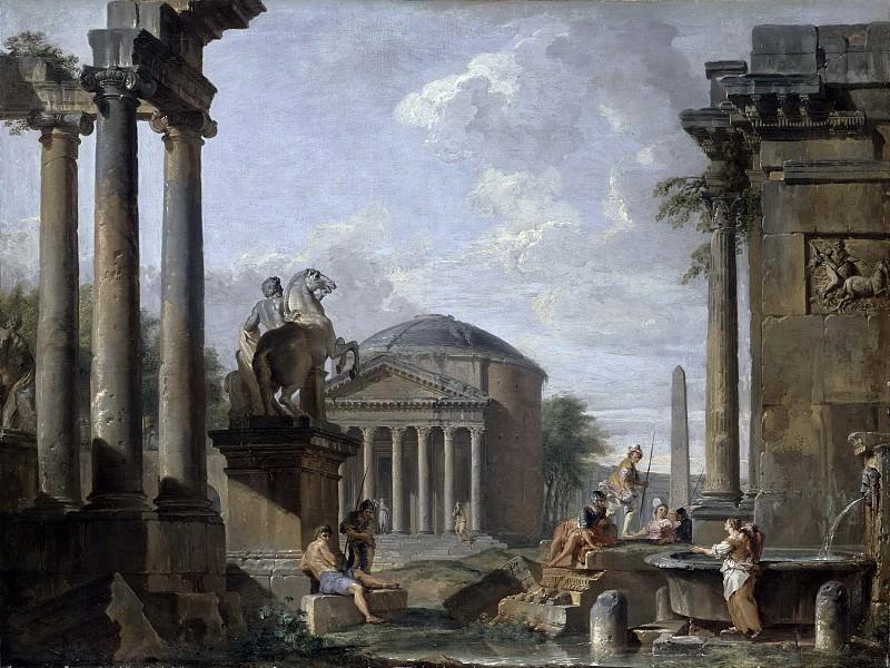 Landscape with Roman Ruins. Giovanni Paolo Panini