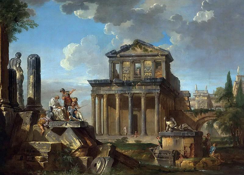 Каприччо с храмом Антонина и Фаустины. Giovanni Paolo Panini