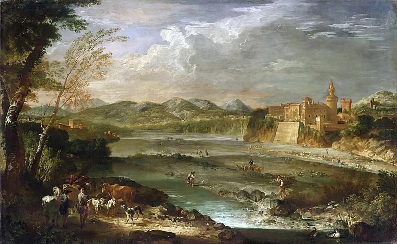 Долина реки Треббия с замком Ривальта. Giovanni Paolo Panini