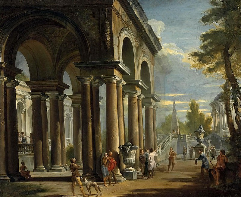 Каприччо с классической лоджией. Giovanni Paolo Panini