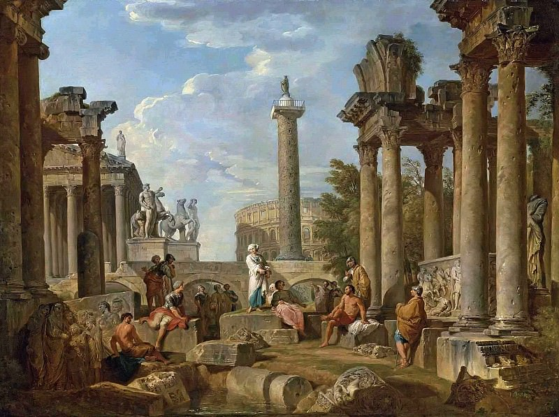 Каприччо с римскими руинами. Giovanni Paolo Panini