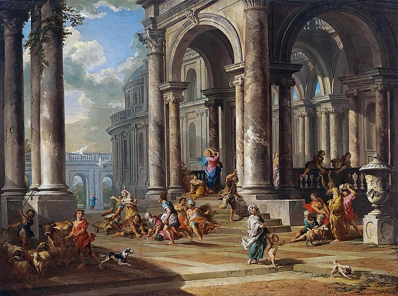 La expulsion de los mercaderes del tempo, 1724. Giovanni Paolo Panini