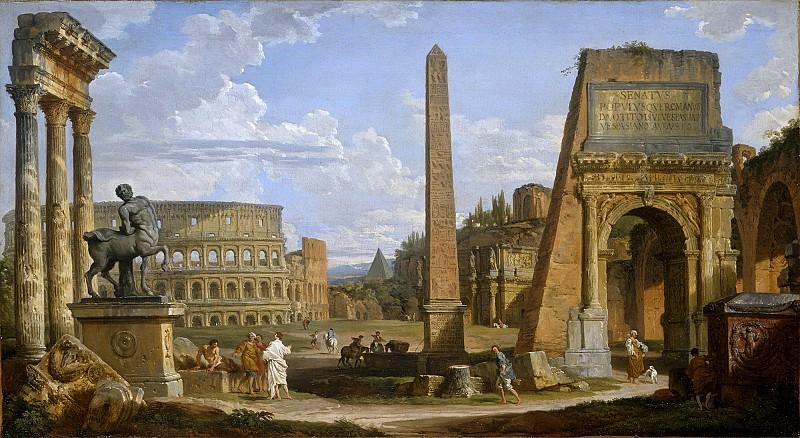 Каприччо с римскими руинами. Джованни Паоло Панини