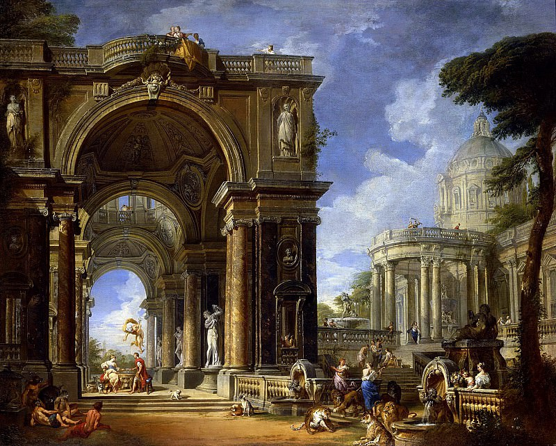 Circe Entertaining Odysseus at a Banquet. Giovanni Paolo Panini