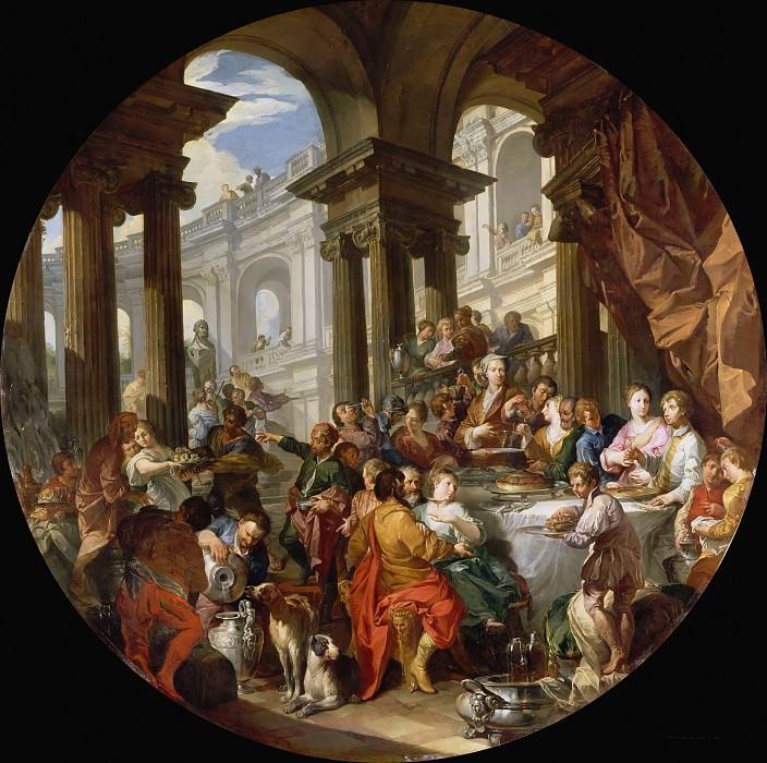 Застолье под ионическим портиком. Giovanni Paolo Panini