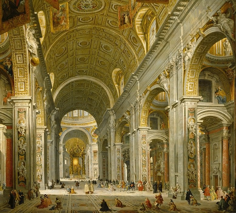 Интерьер собора святого Петра в Риме. Джованни Паоло Панини