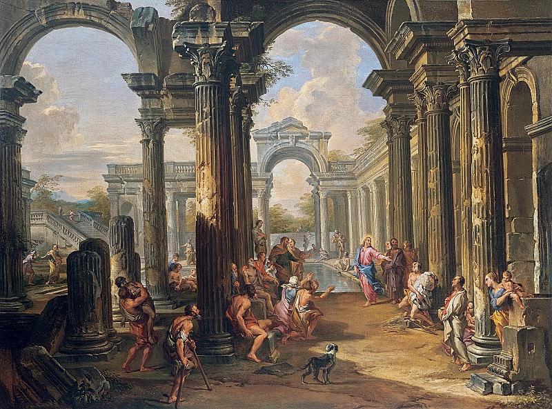 Христос в купели Вифезде. Джованни Паоло Панини
