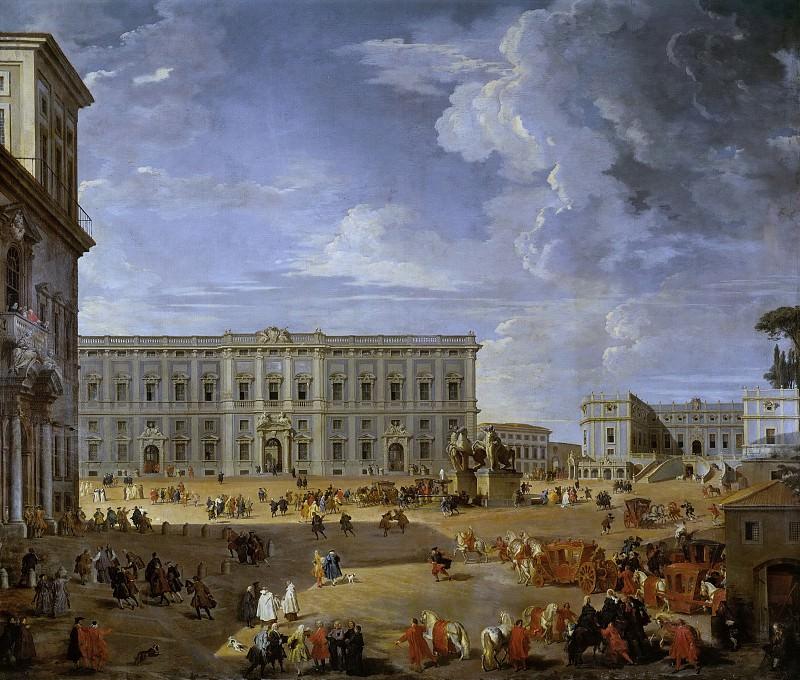 Piazza del Quirinale. Giovanni Paolo Panini