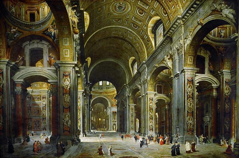 Interieur de Saint Pierre de Rome. Giovanni Paolo Panini