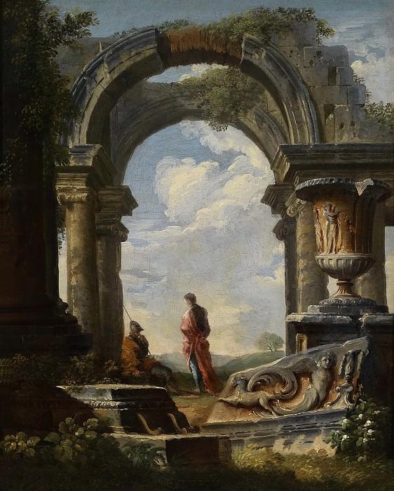 capriccio of classical ruins. Giovanni Paolo Panini