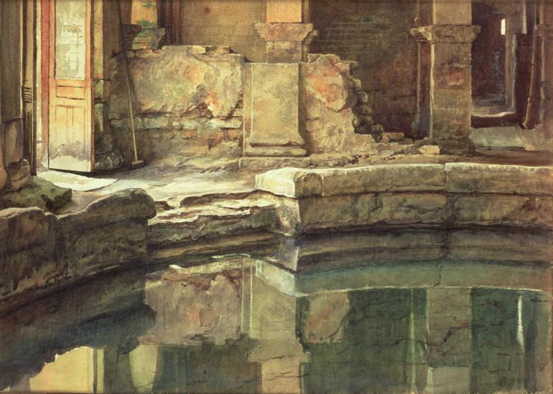 The Roman Bath. Edward John Poynter