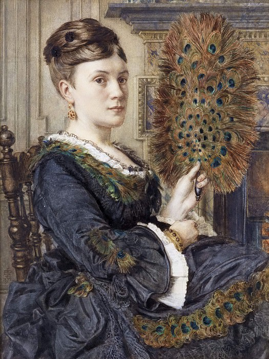 Павлиний веер: портрет Елизаветы Курто. Эдвард Джон Пойнтер