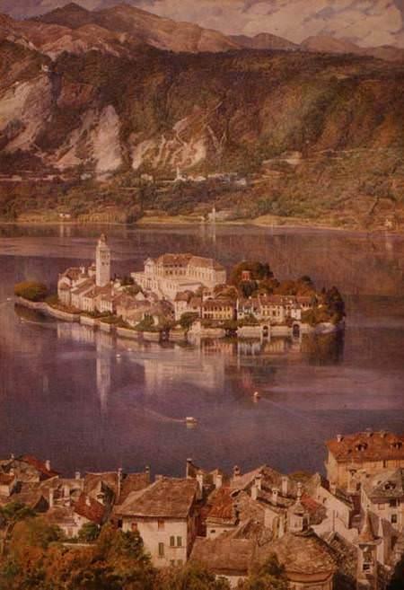 Isola San Giulio Lake Orta. Edward John Poynter