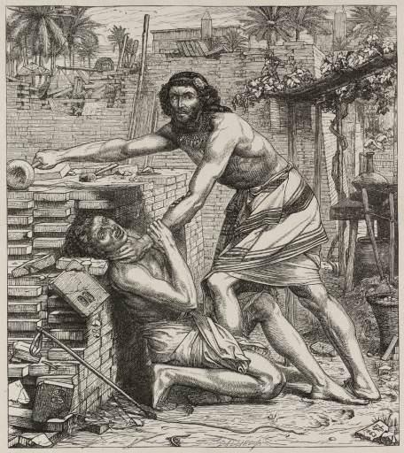 Moses Slaying the Egyptians. Edward John Poynter