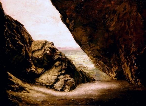 The cave at Tintagel. Edward John Poynter
