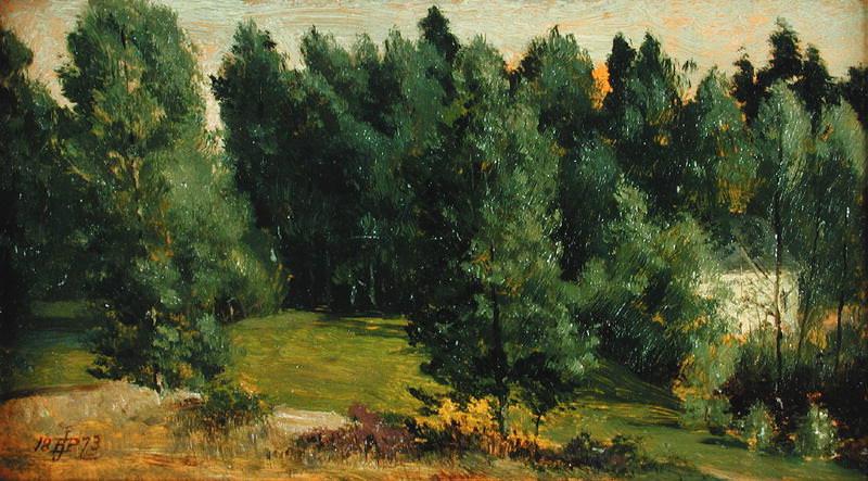 A Wooded Landscape. Edward John Poynter