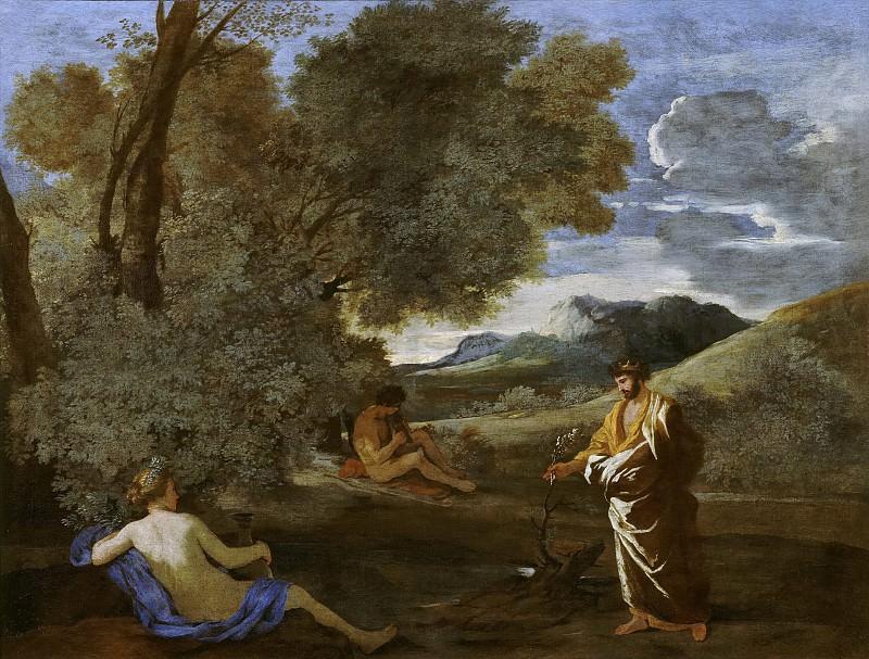 Numa Pompilius and the nymph Egeria. Nicolas Poussin