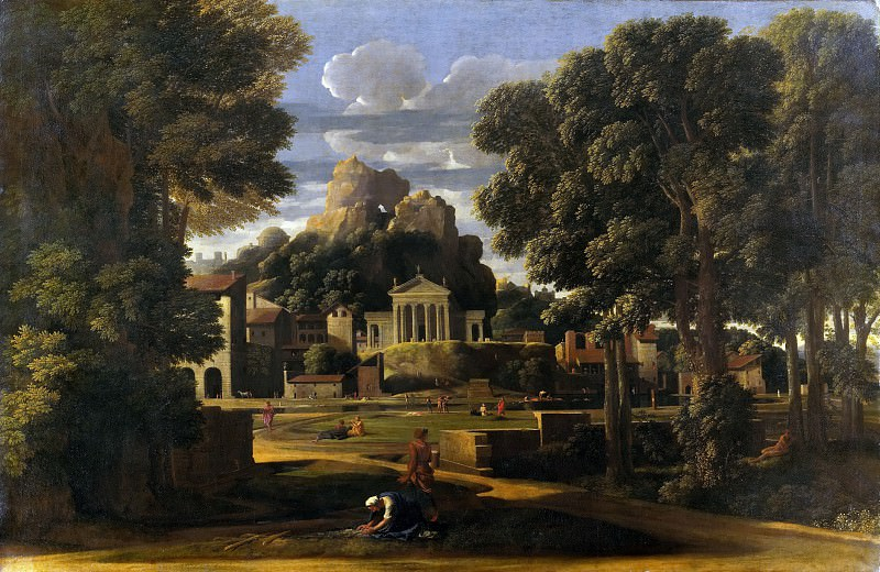 THE ASHES OF PHOCION COLLECTED BY HIS WIDOW. Nicolas Poussin