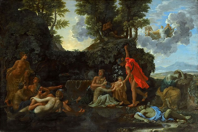 The Birth of Bacchus. Nicolas Poussin