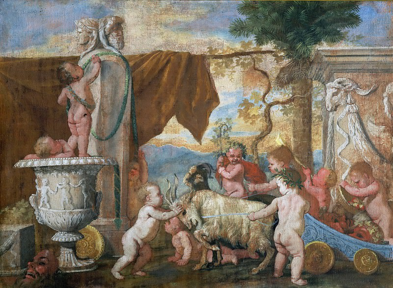 Bacchanal with Putti. Nicolas Poussin