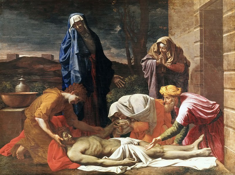 Lamentation over the dead Christ. Nicolas Poussin