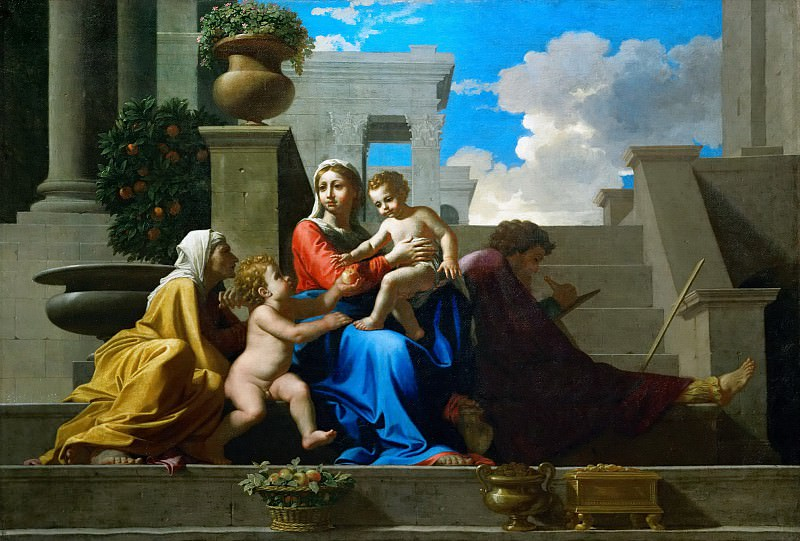 Holy Family on the Steps. Nicolas Poussin