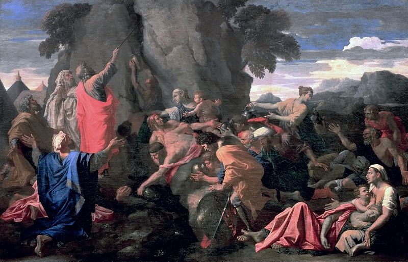 Moses Striking Water from the Rock. Nicolas Poussin