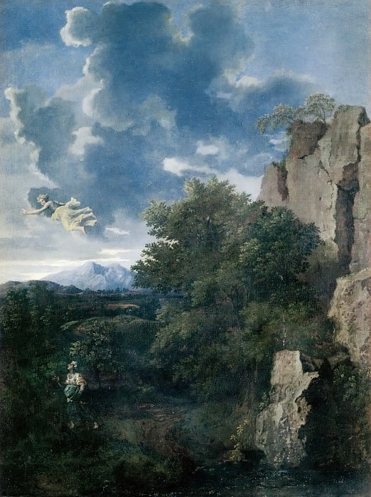 Landscape with Hagar and the Angel. Nicolas Poussin