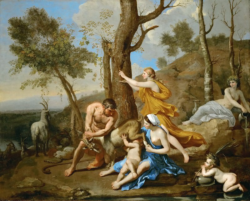 The Feeding of Jupiter. Nicolas Poussin