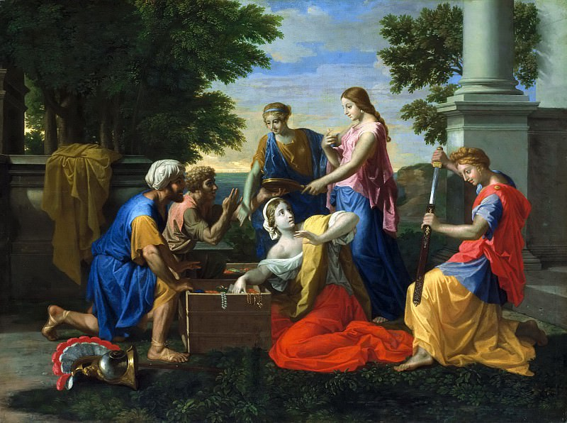 Achilles and the daughters of Lycomedes. Nicolas Poussin
