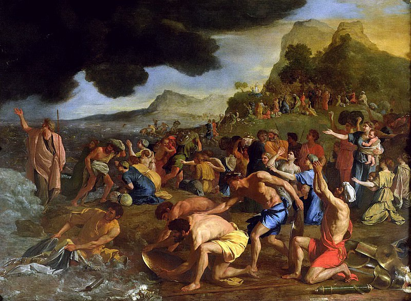 The Crossing of the Red Sea. Nicolas Poussin