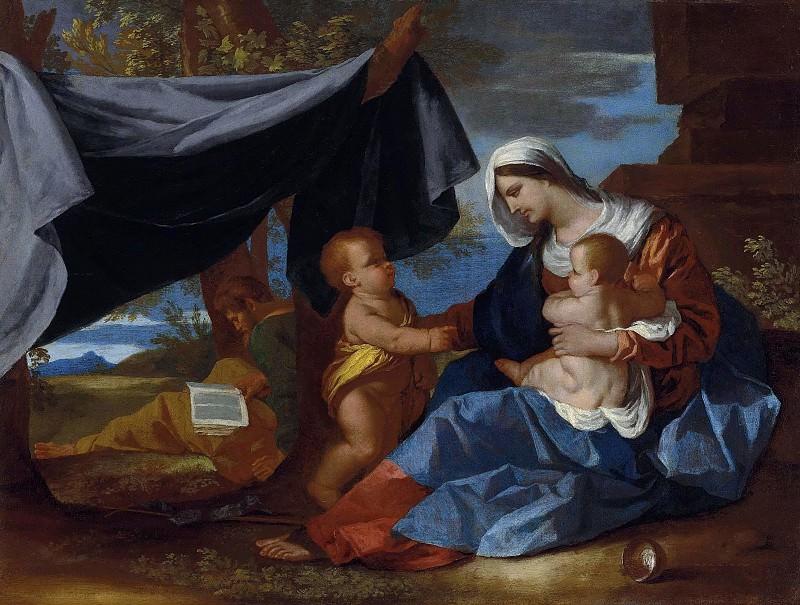 Святое Семейство с маленьким Иоанном Крестителем. Никола Пуссен