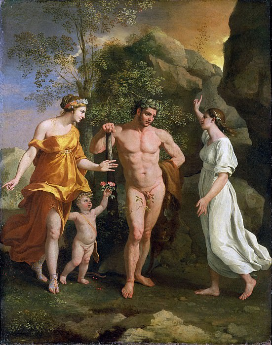 The Choice of Hercules. Nicolas Poussin
